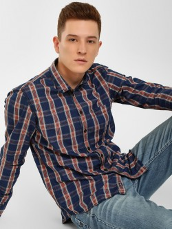 SCULLERS Checkered Slim Fit Shirt