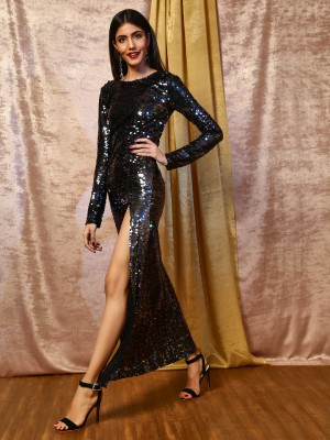 KOOVS All Over Sequin Maxi Dre...