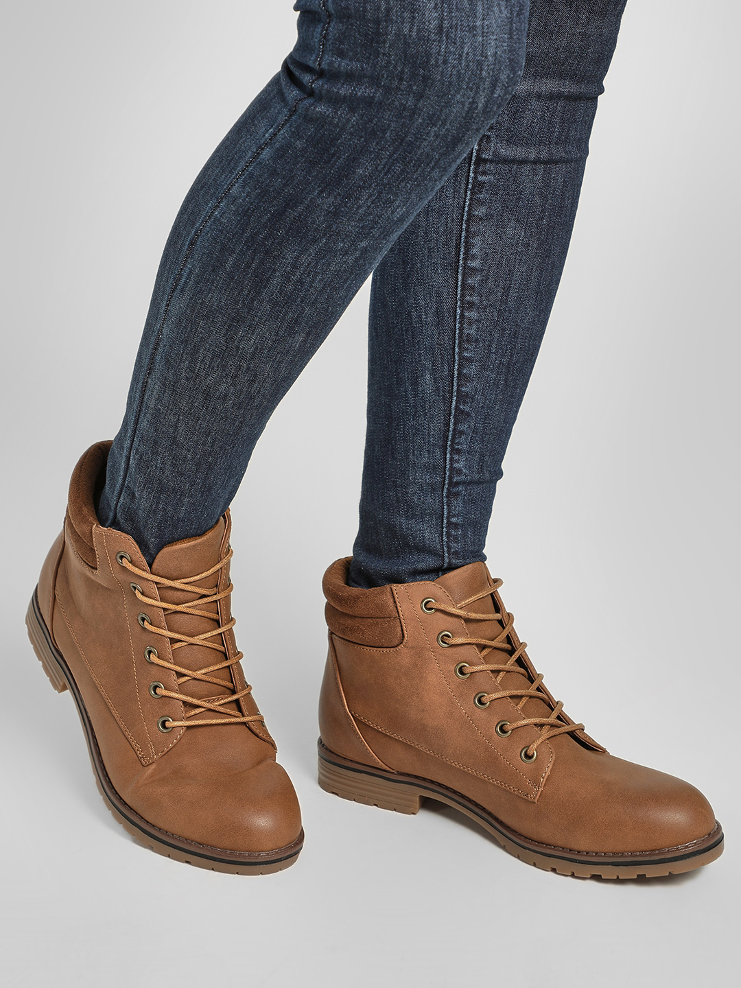 New Look Brown Suede Finish Casual Boots 1