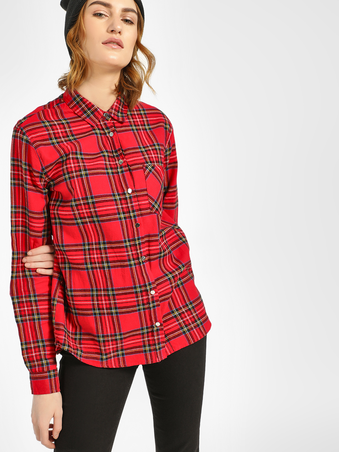 New Look Red Casual Check Shirt 1