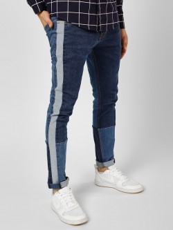 K Denim KOOVS Colour Block Side Tape Jeans