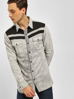 Noble Faith Denim Wash Long Sleeve Shirt