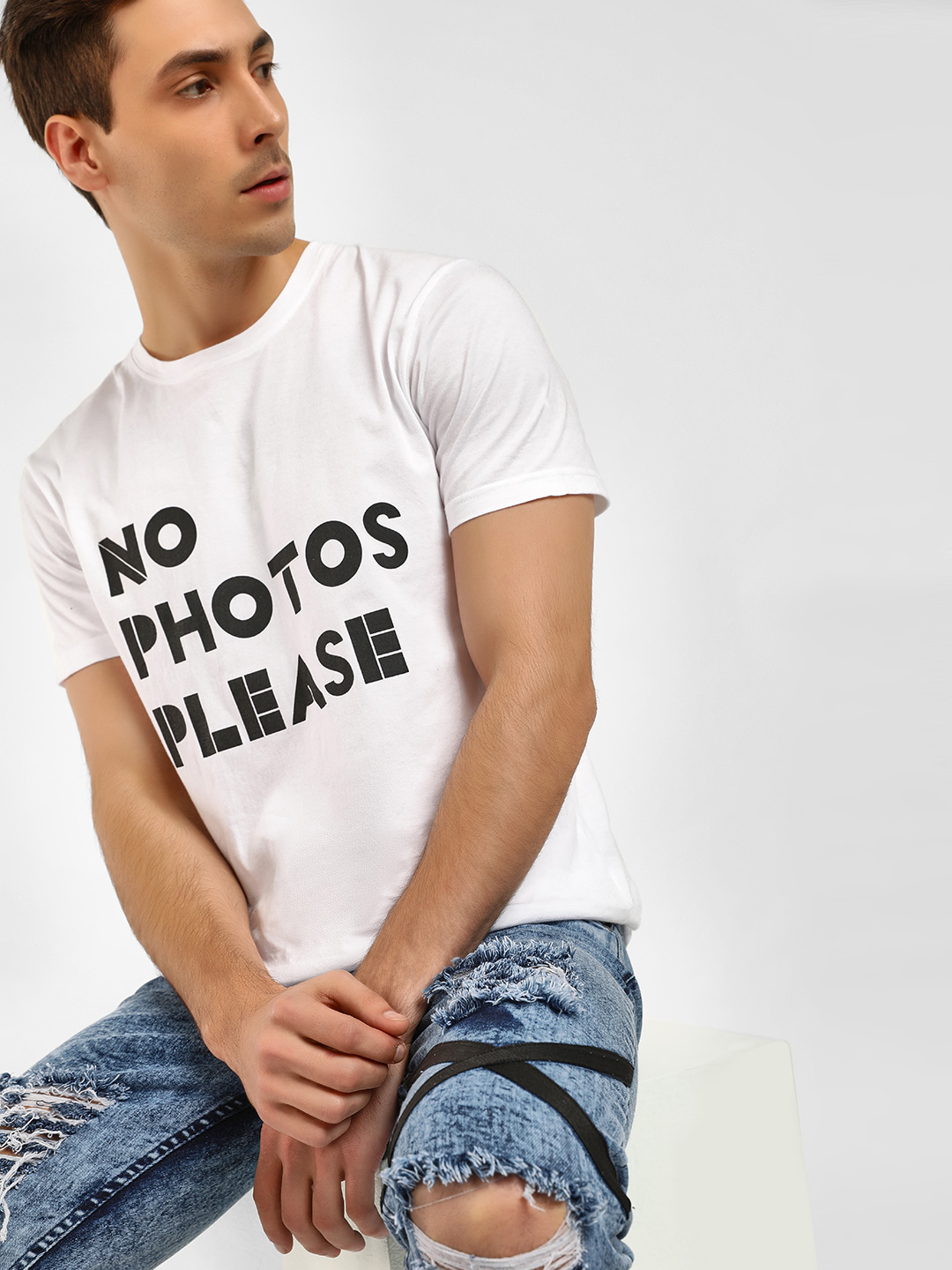Noble Faith White Slogan Print T-Shirt 1