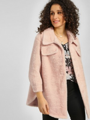 ORIGAMI LILY Faux Shearling Ja...
