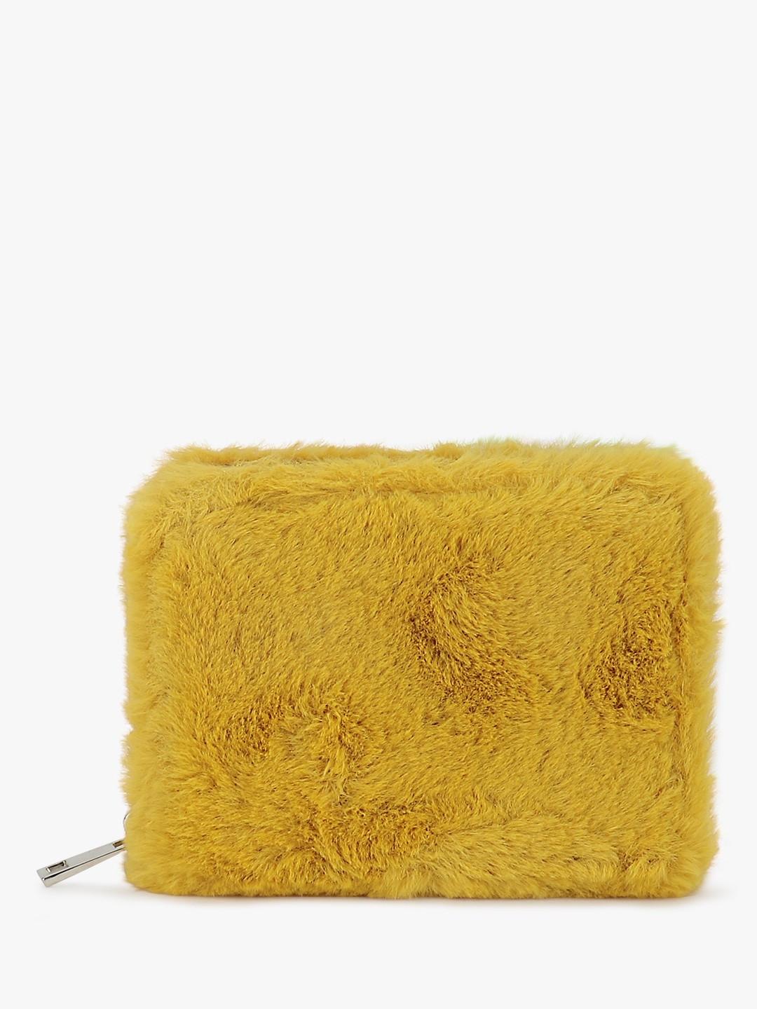 New Look Yellow Fur Detail Cardholder 1