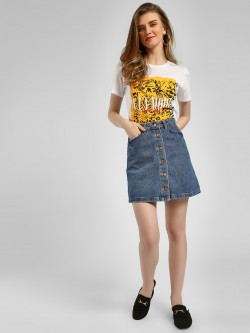 New Look A-Line Mini Denim Skirt