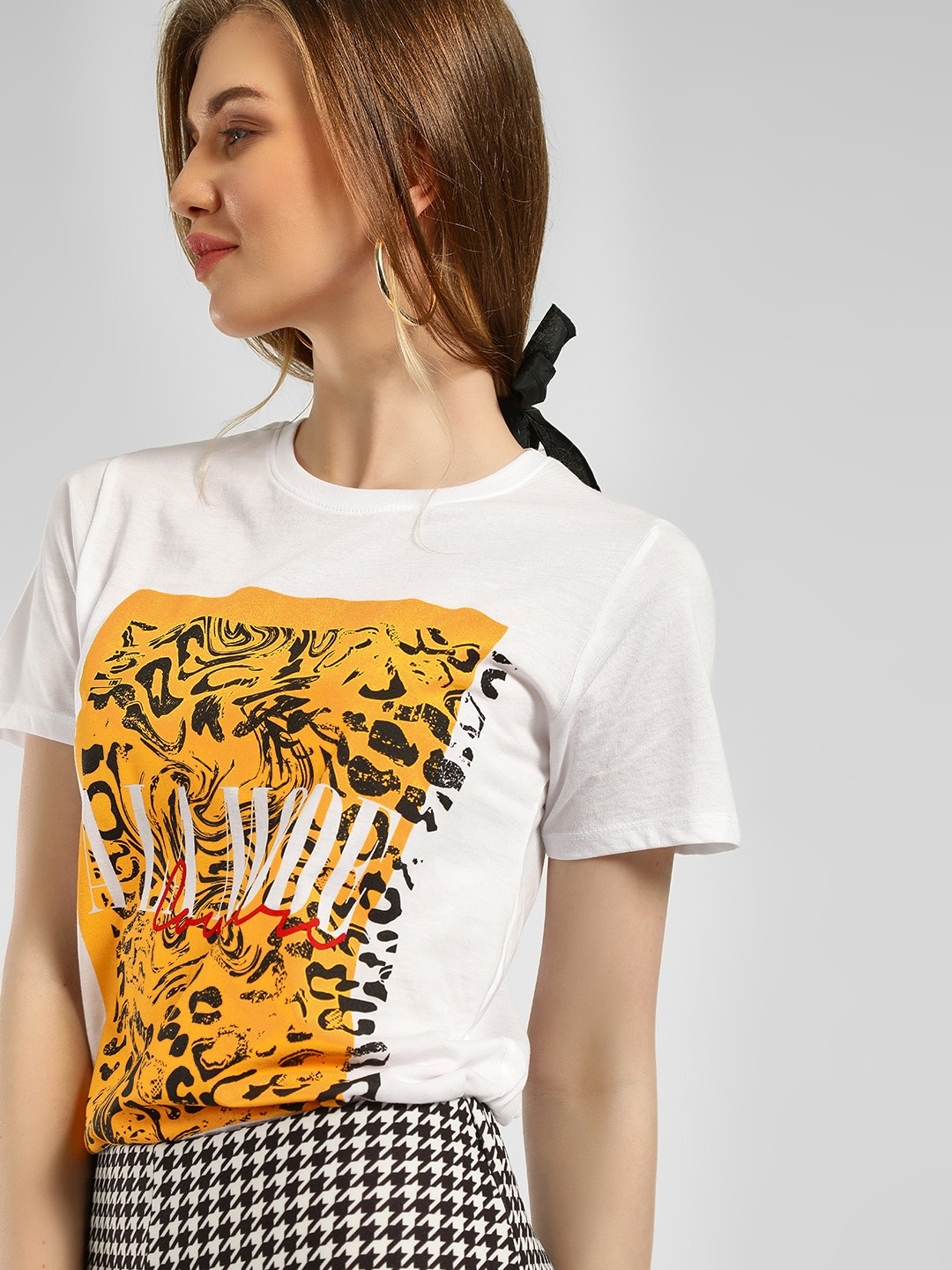 New Look White Slogan Camo Placement Print T-Shirt 1