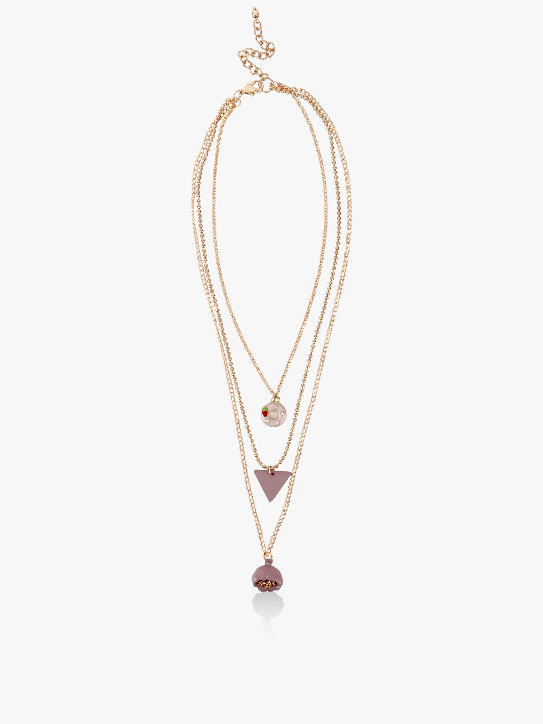 Blueberry Gold Multi-Chain Layered Necklace 1