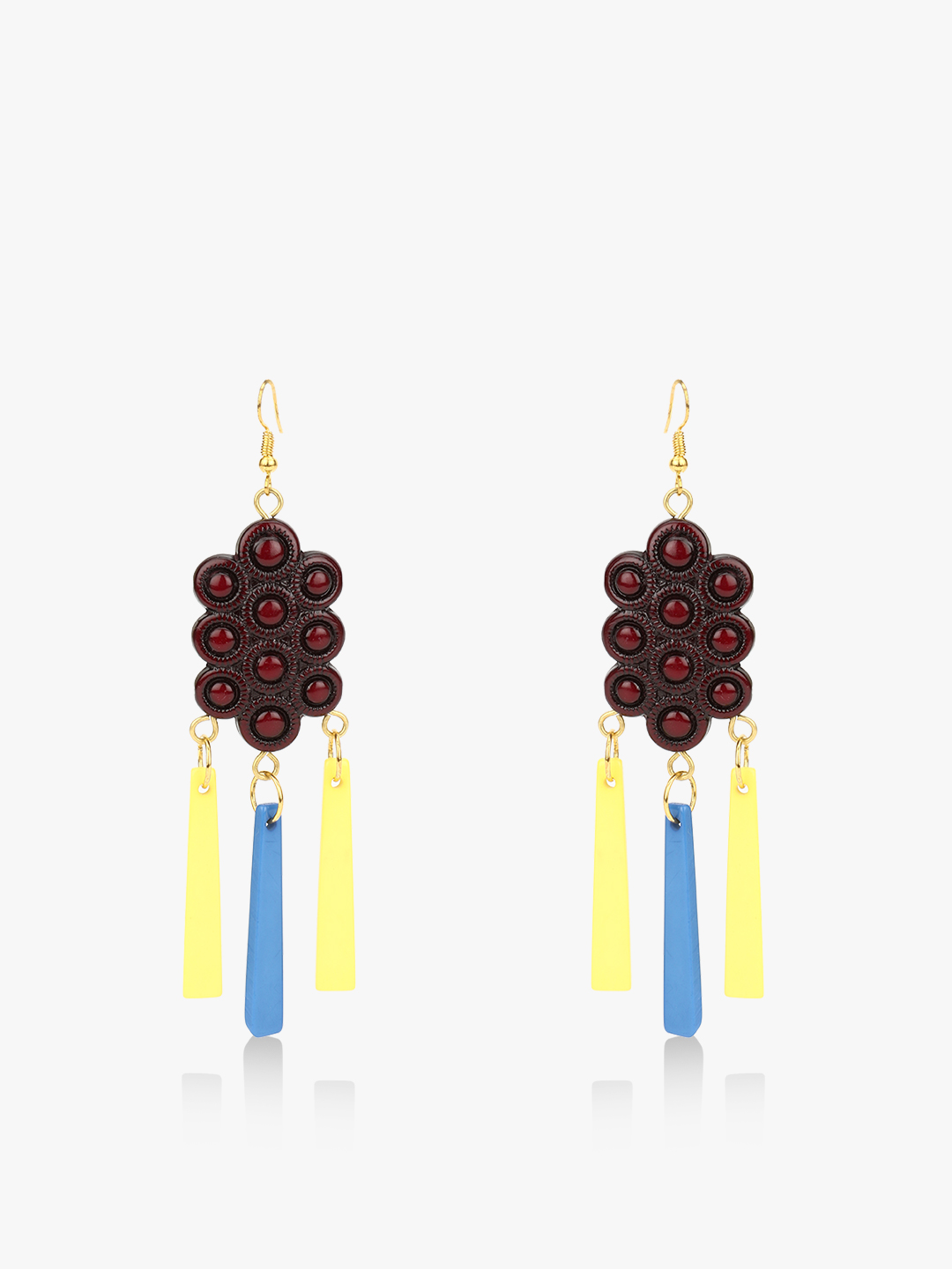 Blueberry Multi Grape Bunch Earrings 1