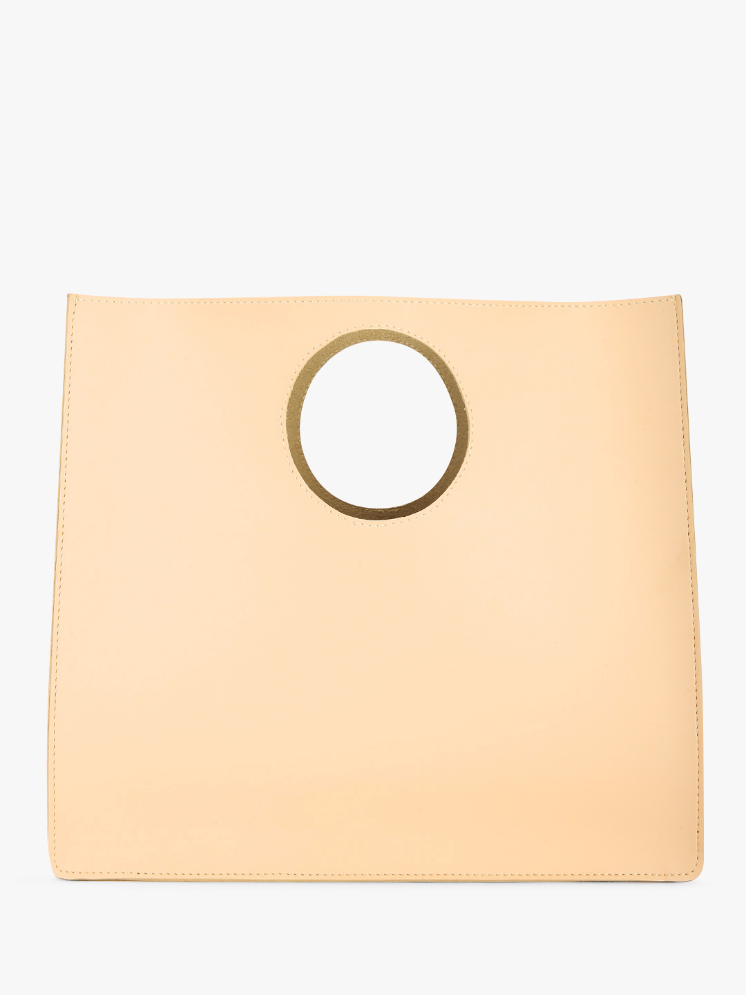 Paris Belle Beige Round Handle Tote Bag 1