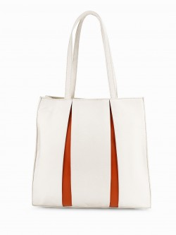 Paris Belle Contrast Pleated Tote Bag
