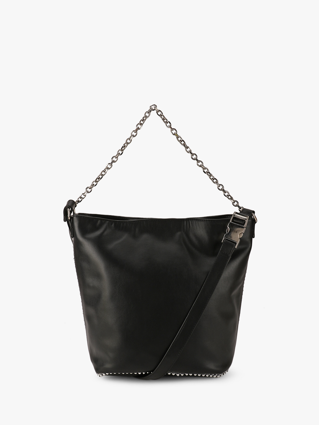 Paris Belle Black Chain Detail Tote Bag 1