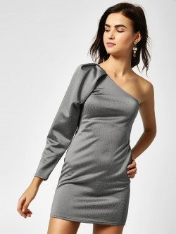 All Good Things One Shoulder Bodycon Dress