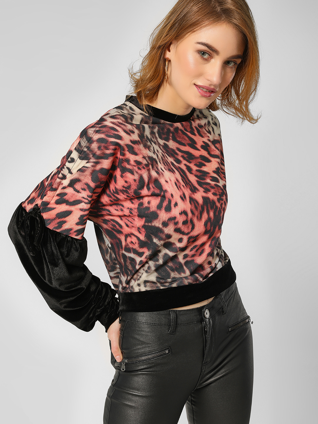 All Good Things Multi Leopard Print Sweatshirt 1