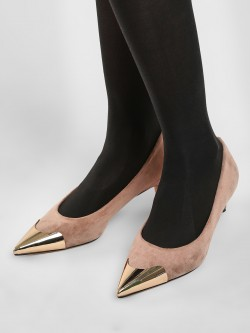 Sole Story Gold Tipped Pumps