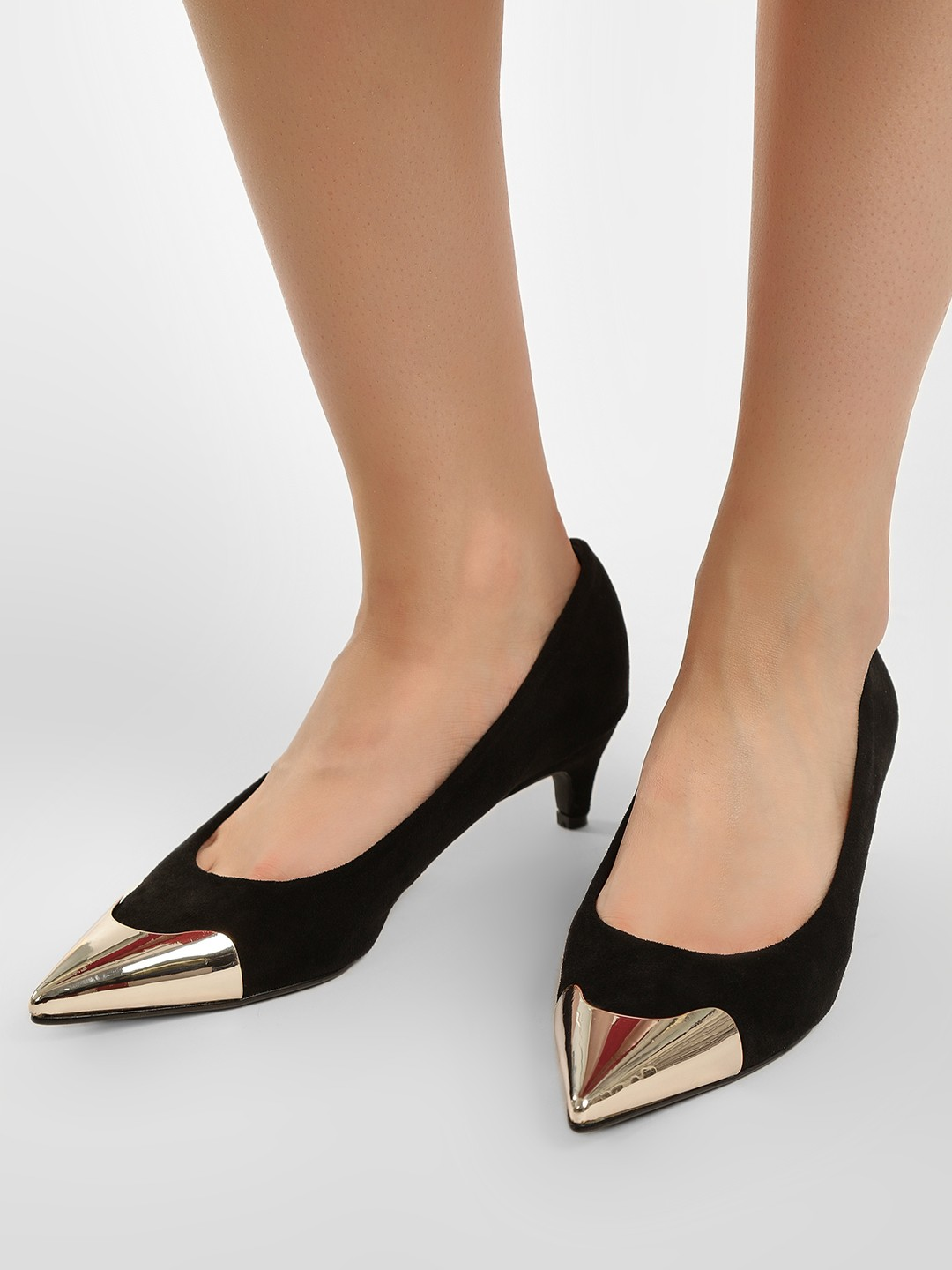 Sole Story Black Gold Tipped Pumps 1