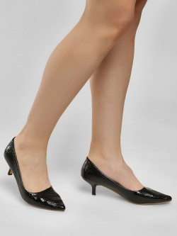 Sole Story Textured Kitten Heeled Pumps