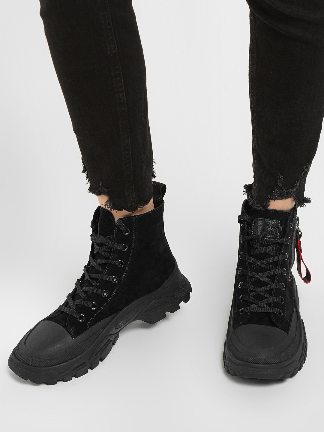 Sole Story Black Chunky Sole Hi-Top Shoes 1