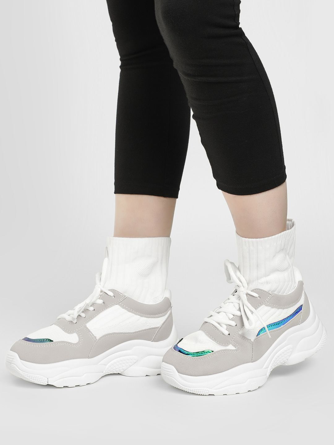 Sole Story white/grey Sockliner Chunky Sole Trainers 1