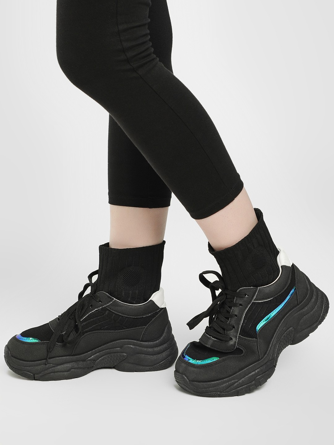 Sole Story Black Sockliner Chunky Sole Trainers 1