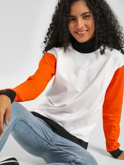 Daisy Street Colour Block Pullover