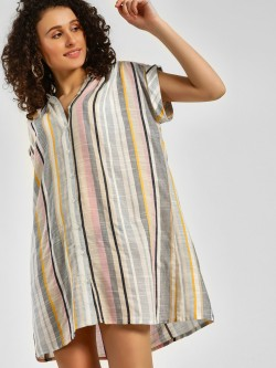 KOOVS Button Down Shirt Dress