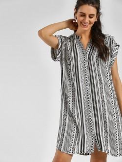 KOOVS Button-Down Woven Shirt Dress