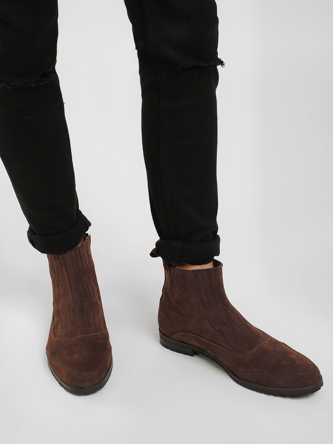 KOOVS Brown Elasticated Panel Chelsea Boots 1