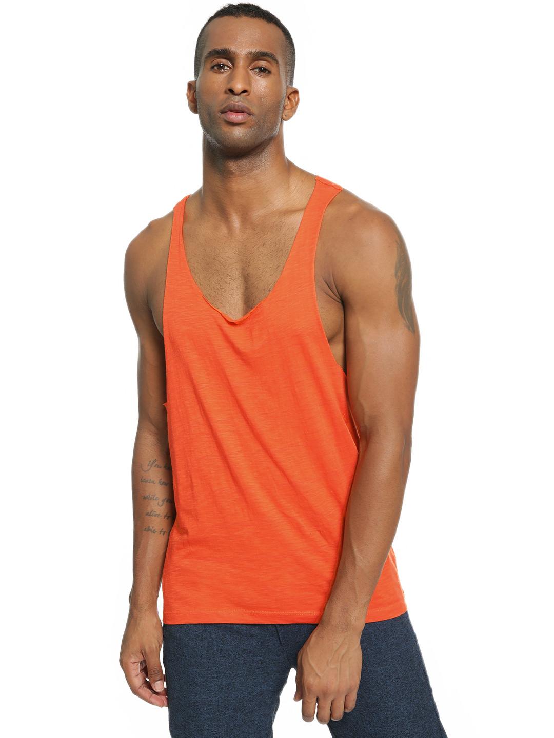 KOOVS Orange Racerback Scoop Neck Vest 1