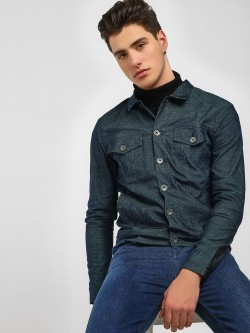KOOVS Corduroy Cropped Trucker Jacket