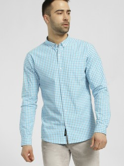 KOOVS Gingham Check Casual Shirt