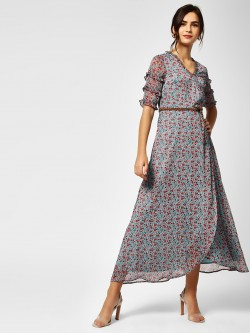 Cover Story Overlap Floral Maxi Dress