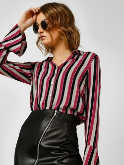 Cover Story Striped Bell Sleeve Shirt
