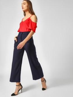 Cover Story Button Detail Flared Culottes