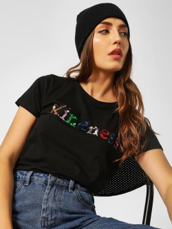 Cover Story Multicoloured Slogan Print T-Shirt