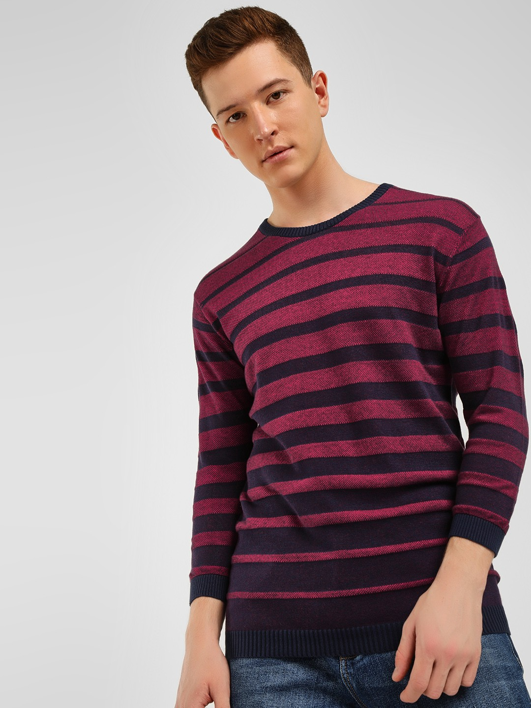 Akiva Multi Horizontal Striped Ribbed Pullover 1