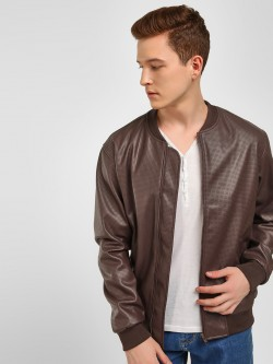 KOOVS Baseball Collar Perforated Jacket