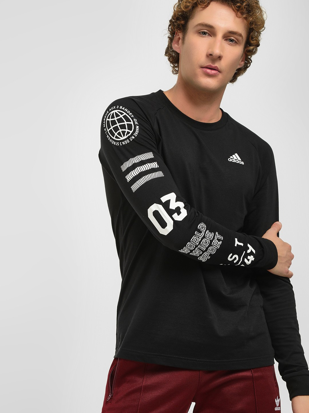 Adidas Black Badge Sport Graphic Sleeve T-Shirt 1