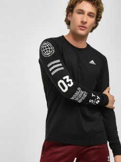 Adidas Badge Sport Graphic Sleeve T-Shirt