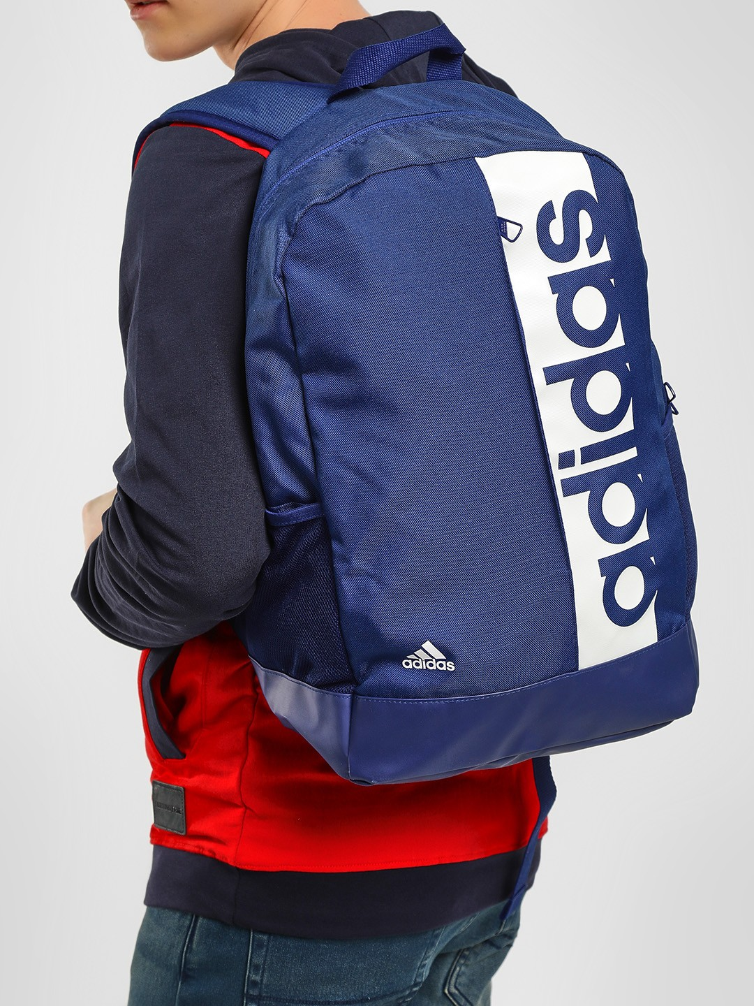 Adidas Blue Linear Performance Backpack 1