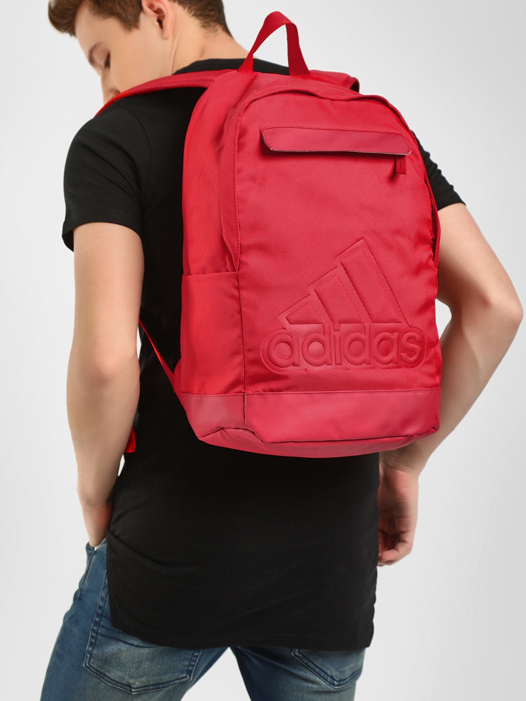 Adidas Red Classic Backpack 1