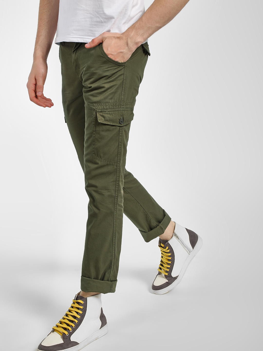 Buffalo Olive Basic Slim Fit Chinos 1