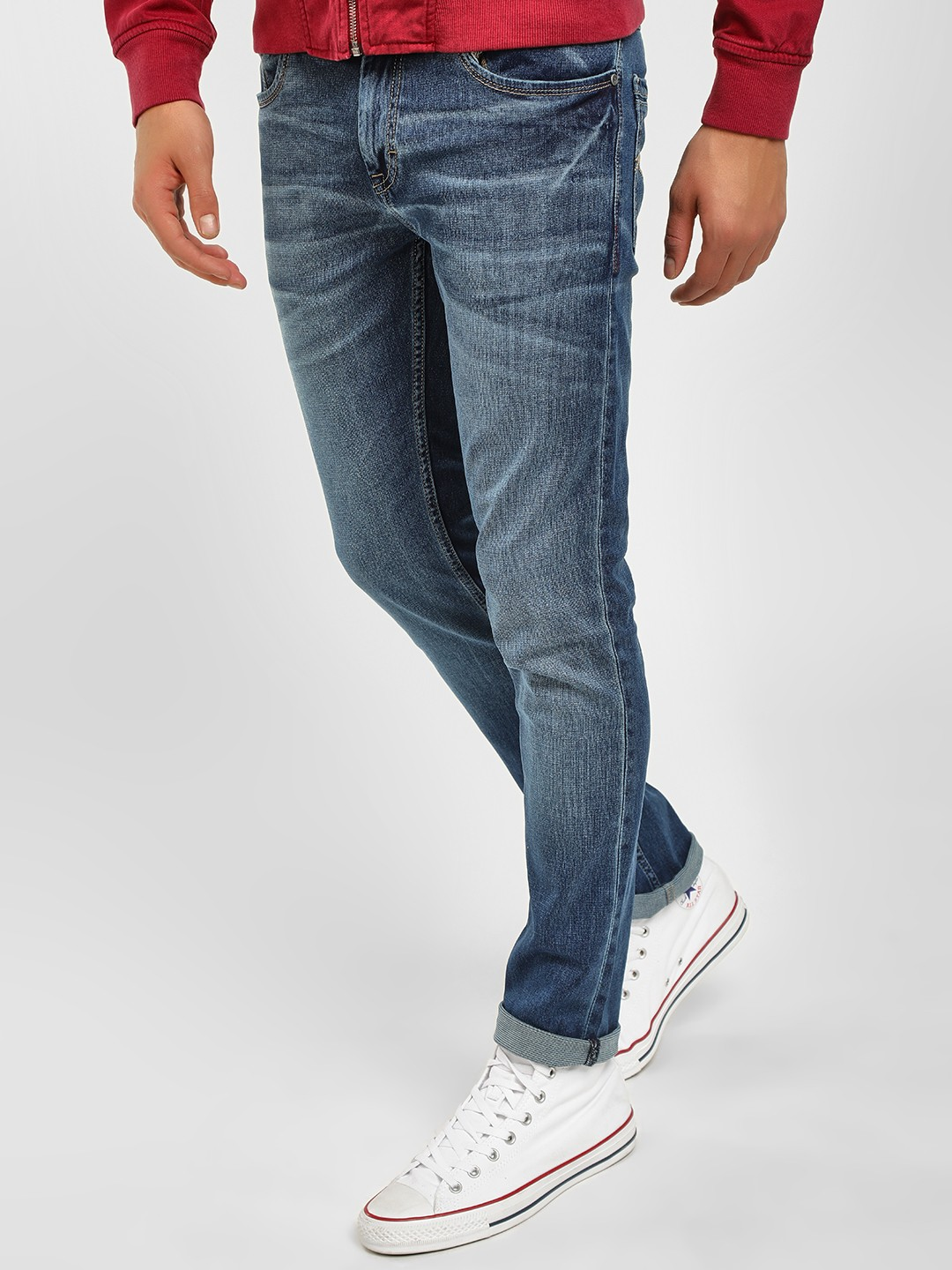 Buffalo Blue Tinted Regular Fit Jeans 1