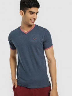 Buffalo Contrast Tape V-Neck T-Shirt