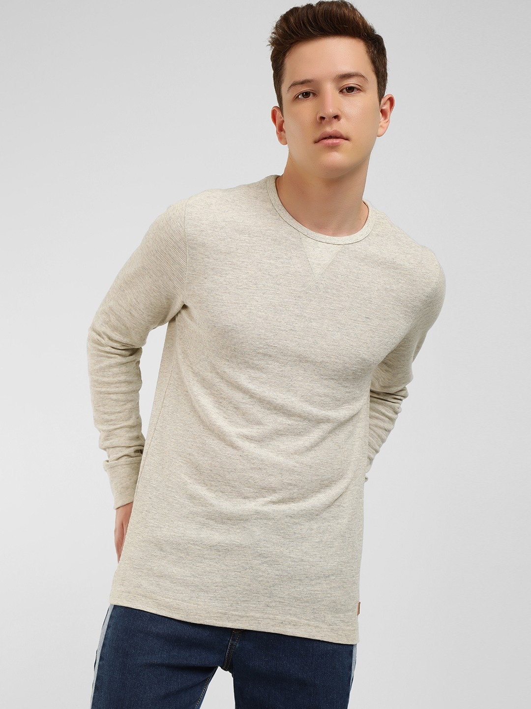 Buffalo Grey Sleeve Detail Pullover 1
