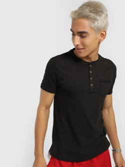 Buffalo Basic Henley Neck T-Shirt