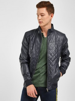 Celio Quilted Raised Collar Jacket