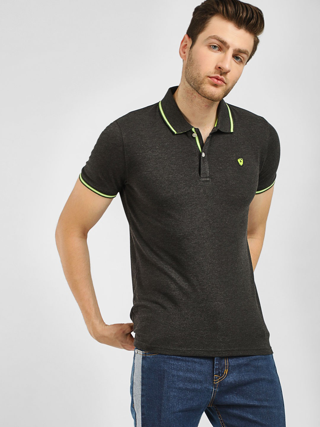 Celio Black Polo T-Shirt 1