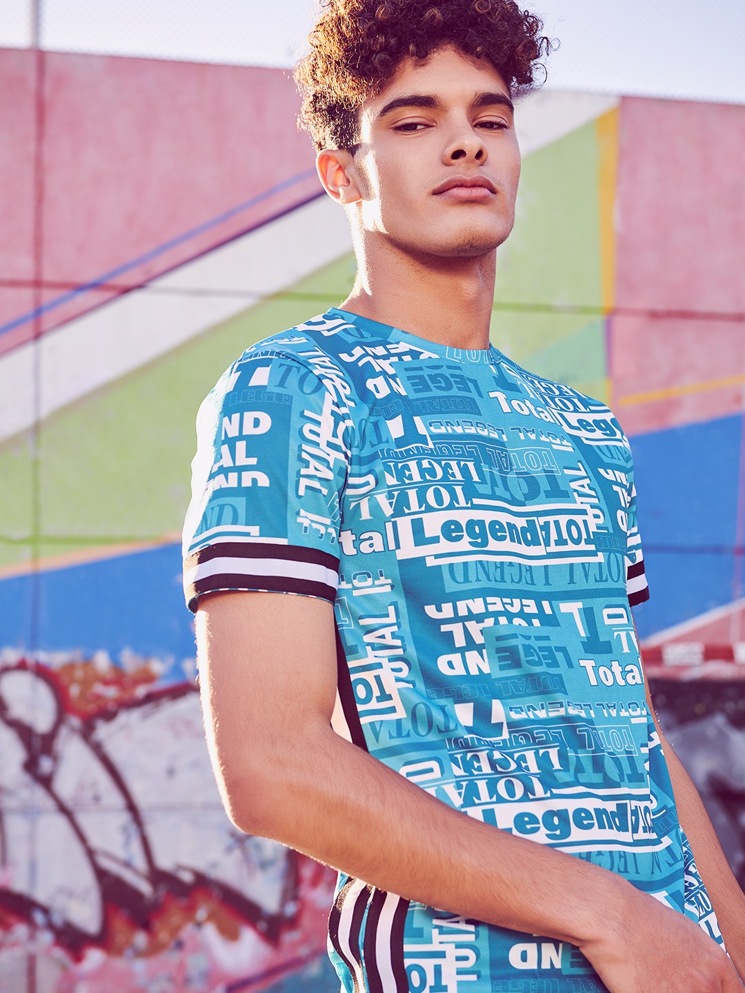 KOOVS Multi Total Legend Contrast Tape T-Shirt 1
