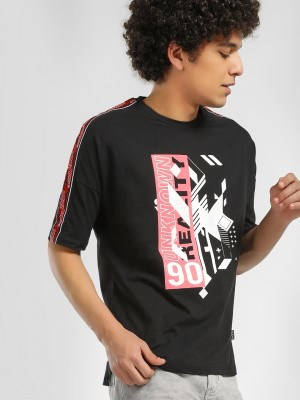 KOOVS Graphic Side Tape T-Shir...